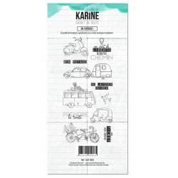 Tampons clear - Les Ateliers de Karine - Carnet de route - En voiture !