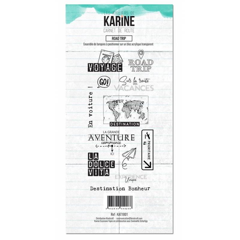 Tampons clear - Les Ateliers de Karine - Carnet de route - Road trip