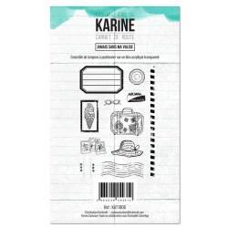 Tampons clear - Les Ateliers de Karine - Carnet de route - Jamais sans ma valise