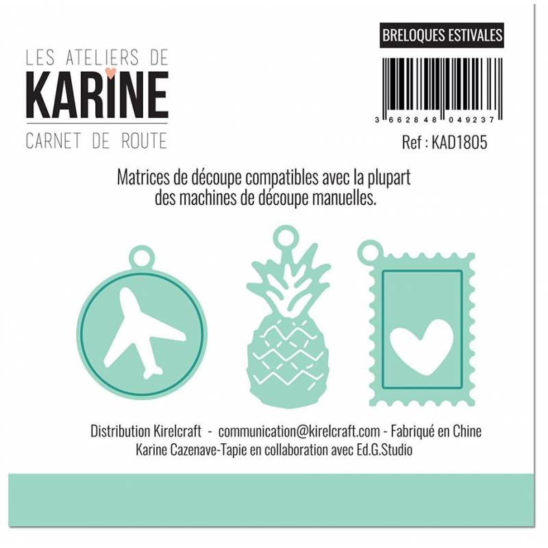 Dies - Les Ateliers de Karine - Carnet de route - Breloques estivales