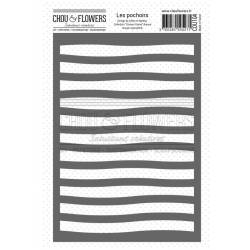 Pochoir - Chou & Flowers - Couleur Océan