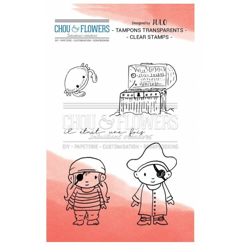 Tampons Clear - Chou & Flowers - Les pirates