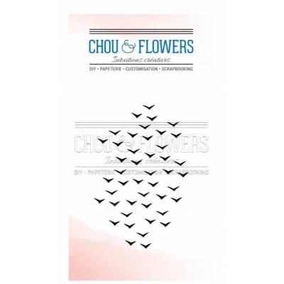 Tampons Clear - Chou & Flowers - Envol d'oiseaux