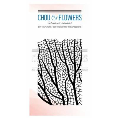 Tampons Clear - Chou & Flowers - Fond corail