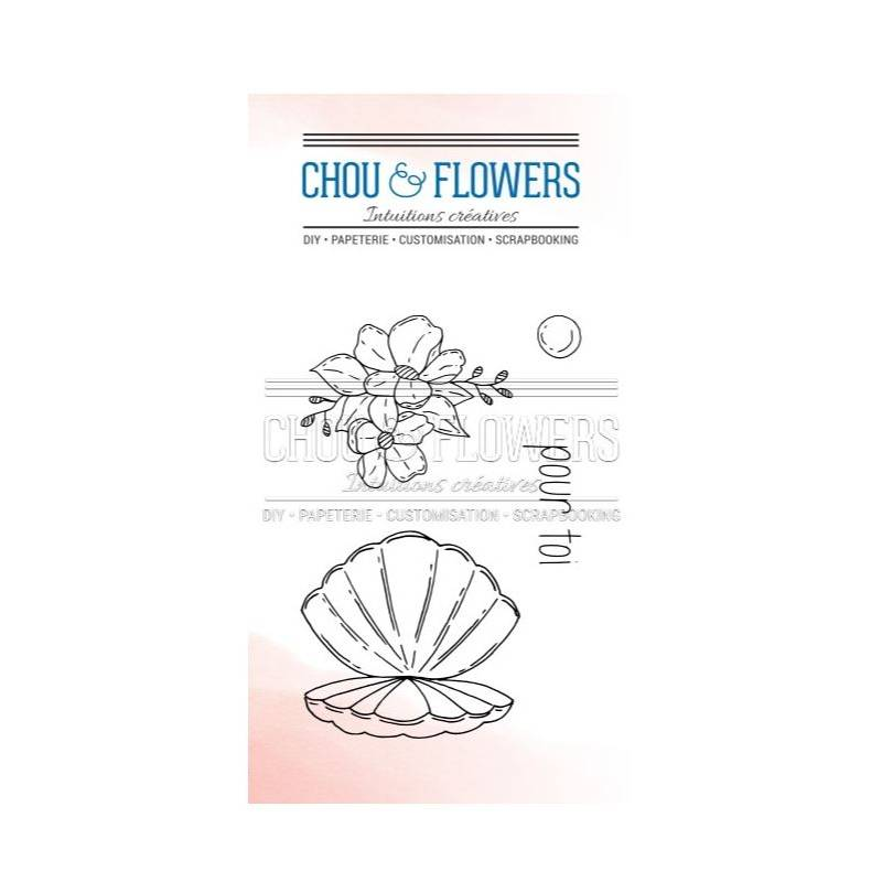 Tampons Clear - Chou & Flowers - Coquille