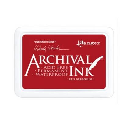 Encre Archival Ink - Red Geranium