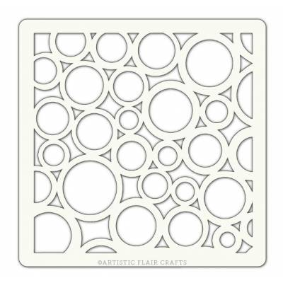 Pochoir Artistic Flair - 10x10 cm - Random Circles