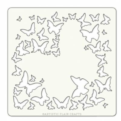 Pochoir Artistic Flair - 10x10 cm - Buttertfly Burst