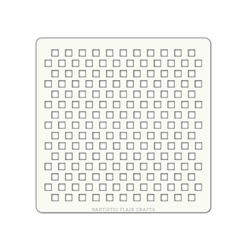 Pochoir Artistic Flair - 10x10 cm - Tiny Squares