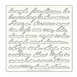 Pochoir Artistic Flair - 15x15 cm - Script
