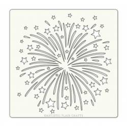 Pochoir Artistic Flair - 15x15 cm - Firework - feu d'artifice