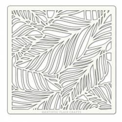Pochoir Artistic Flair - 15x15 cm - Fallen Leaves - feuilles d'automne