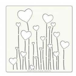 Pochoir Artistic Flair - 15x15 cm - Floating Hearts - coeur ballon