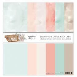 Kit Papiers Unis Florilèges - la maison de Jeanne 30.5 X 30.5