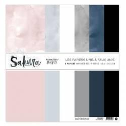 Kit Papiers Unis Florilèges - Sakura 30.5 X 30.5