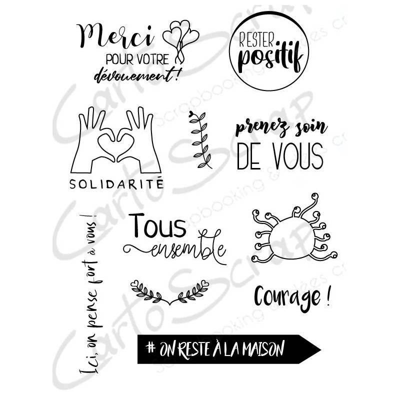 Tampons CartoScrap - Solidarité