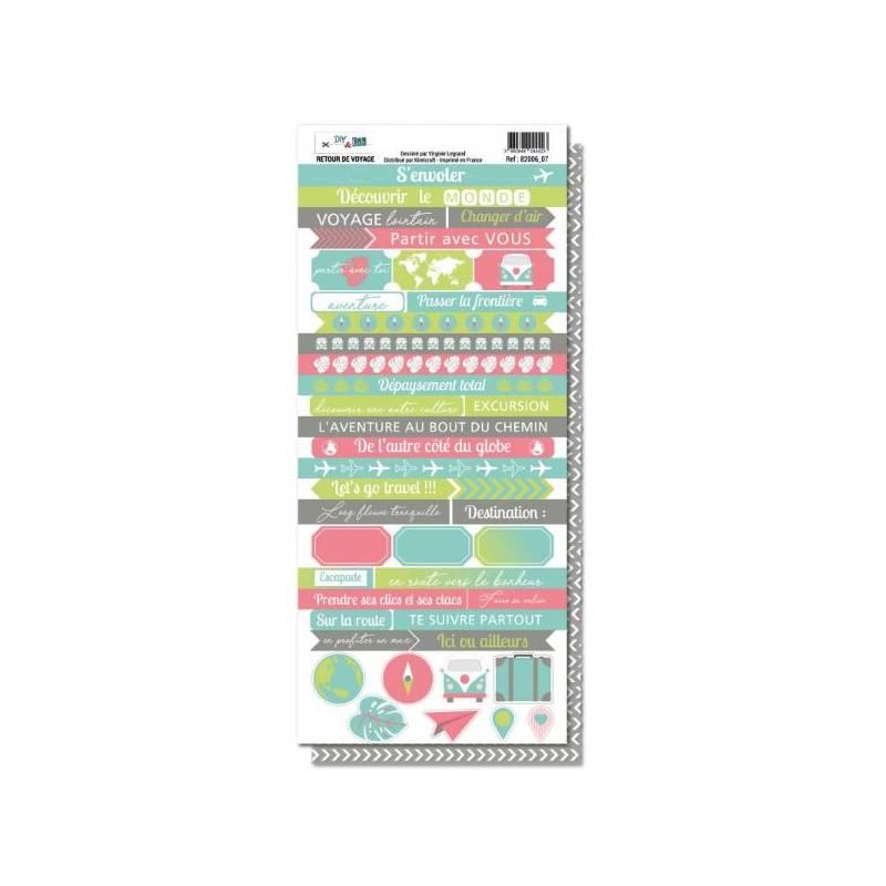 Planche de mots - DIY & Cie - Retour de voyage