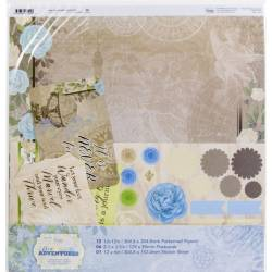 Kit Papiers - Couture Creations - New Adventures 30.5 X 30.5