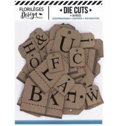Etiquettes die-cuts - Alphabet kraft