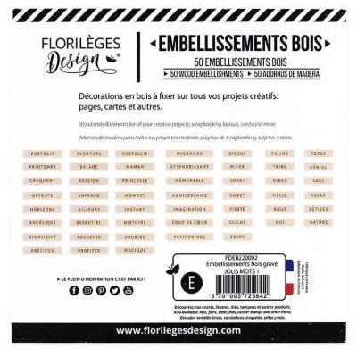 Embellissements bois gravé - Jolis Mots 1
