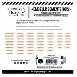 Embellissements bois gravés - Jolis Mots 2