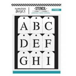 Pochoir Florilèges - Alphabet