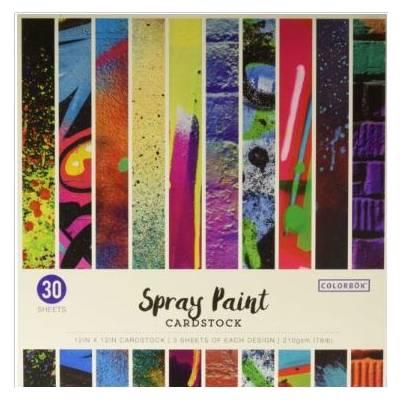 Pack de 30 cardstocks 30x30 cm - Texture lisse - Spray Paint