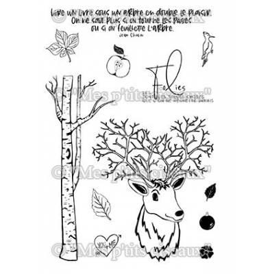 Tampons clear - Mes Ptits Ciseaux - Dans les bois