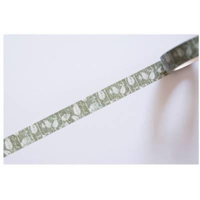 Masking Tape - Mes P'tits Ciseaux - Fond feuilles