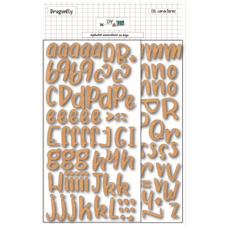 Alphabet adhésif en liège - DIY & Cie - Tendance écolo