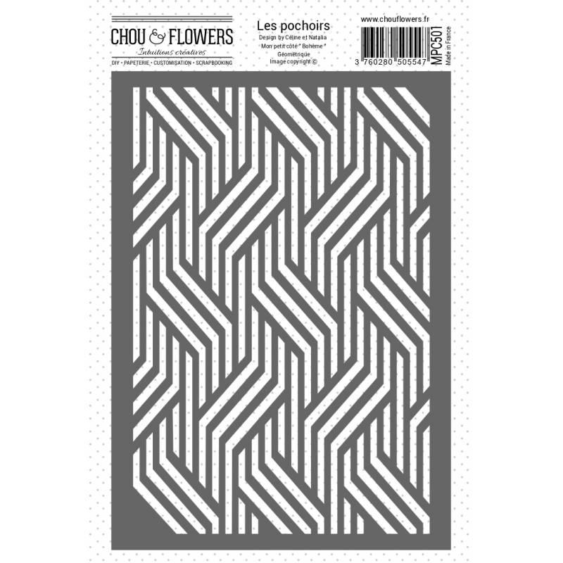 Pochoir - Chou & Flowers - Bohème géométrique