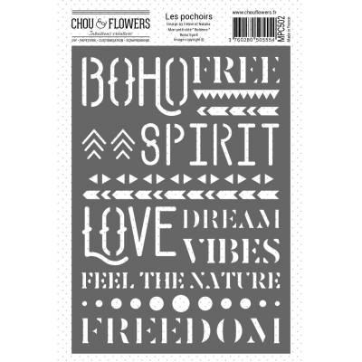 Pochoir - Chou & Flowers - Boho Spirit