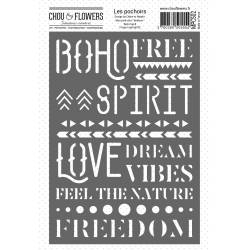 Pochoir - Chou & Flowers - Boho Spirit