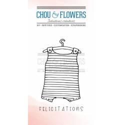 Tampons Clear - Chou & Flowers - Félicitations bébé