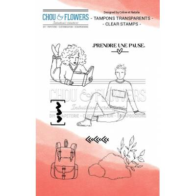 Tampons Clear - Chou & Flowers - Prendre une pause