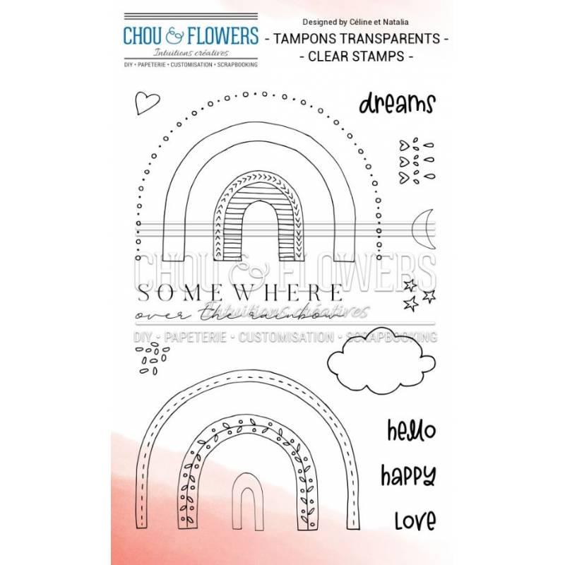 Tampons Clear - Chou & Flowers - Rainbow
