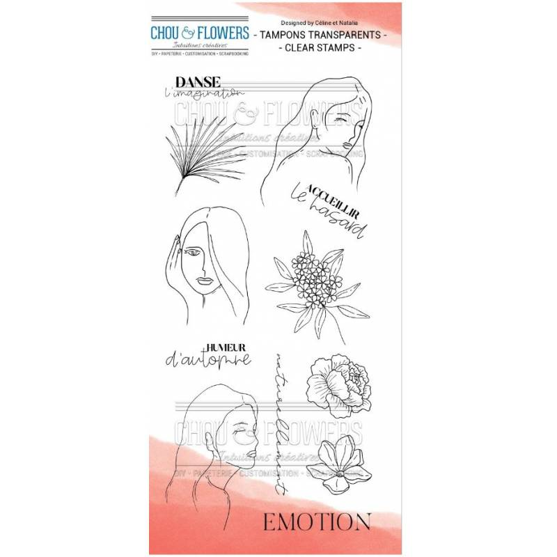 Tampons Clear - Chou & Flowers - Emotion