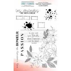 Tampons Clear - Chou & Flowers - La vie est une fleur