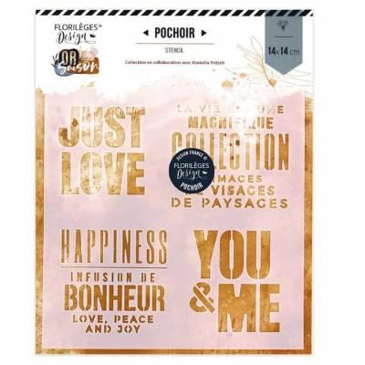 Pochoir Florilèges - Or Saison - You & me