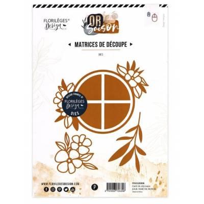 Dies - Florilèges - Or Saison - Jolie fenêtre ronde