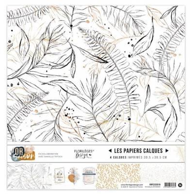 Kit Calques Florilèges - Or Saison 30.5 X 30.5