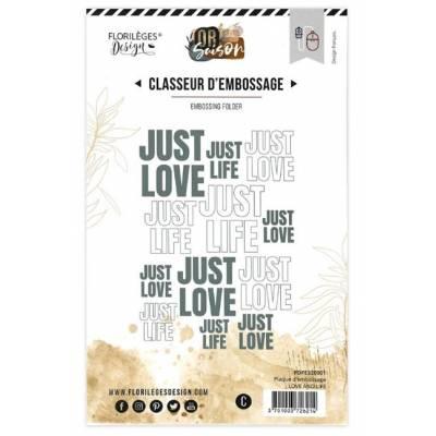 Plaque d'embossage - Love & Life