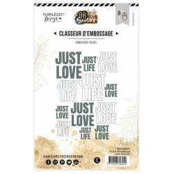 Plaque d'embossage - Love & Life