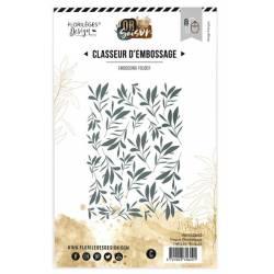 Plaque d'embossage - Tapis de feuille