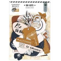 Die Cuts Imprimés - Florilèges - Or Saison