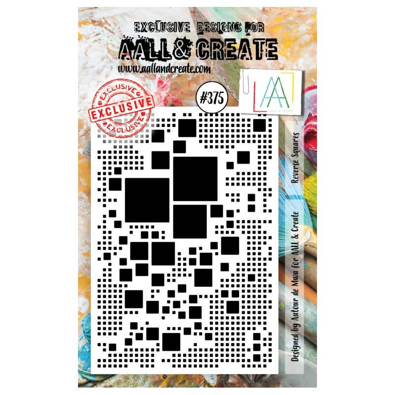AALL & Create Stamp - 375 - Carrés noirs