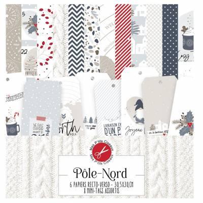 Pack Papier - Mes Ptits Ciseaux - Collection Pôle Nord