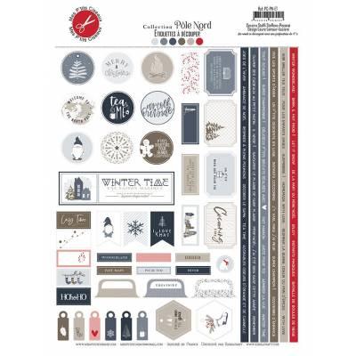 Etiquettes A découper - Mes P'tits Ciseaux - Collection Pôle Nord