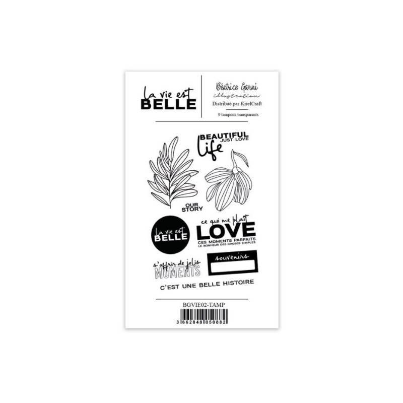 Tampons Béatrice Garni - La vie est belle 2 - Love