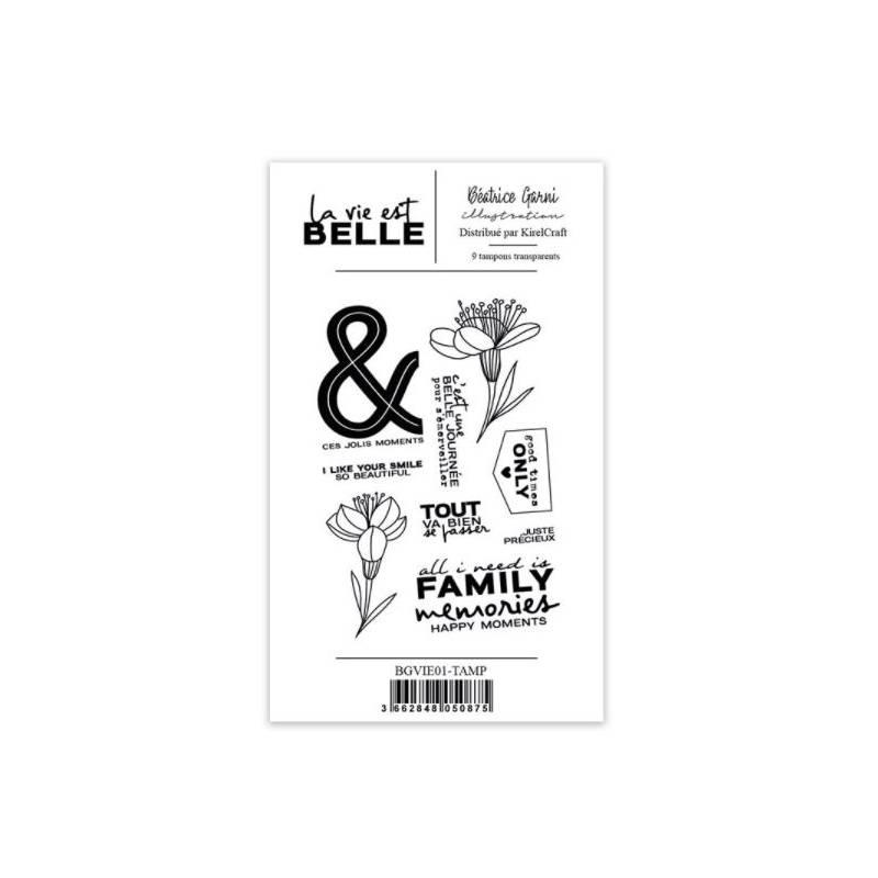 Tampons Béatrice Garni - La vie est belle 1 - Family